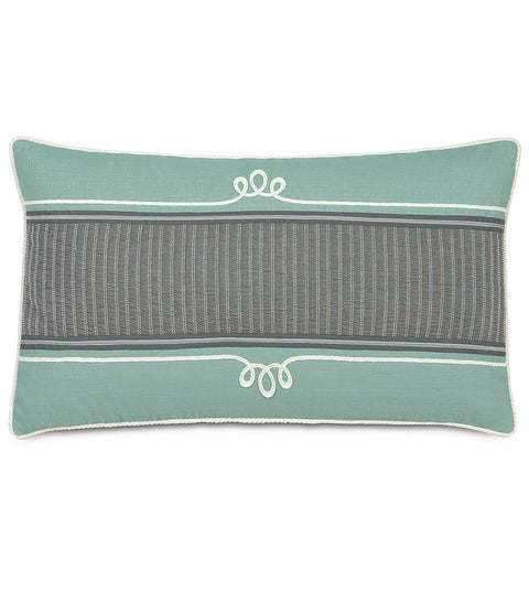 "Minty Smoke Decorative King Sham Cover 21"" x 37"""