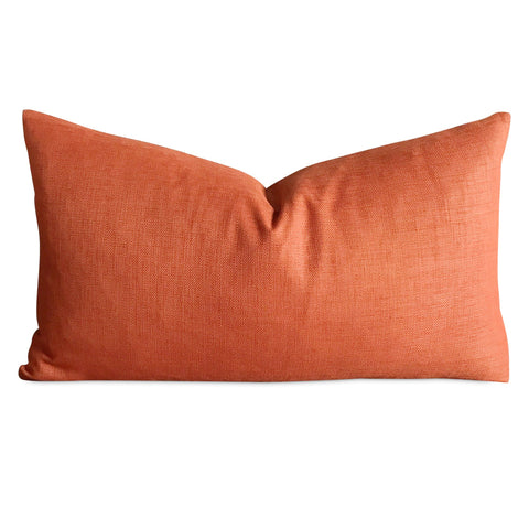 "Solid Orange Decorative Pillow Cover 15"" x 26"""