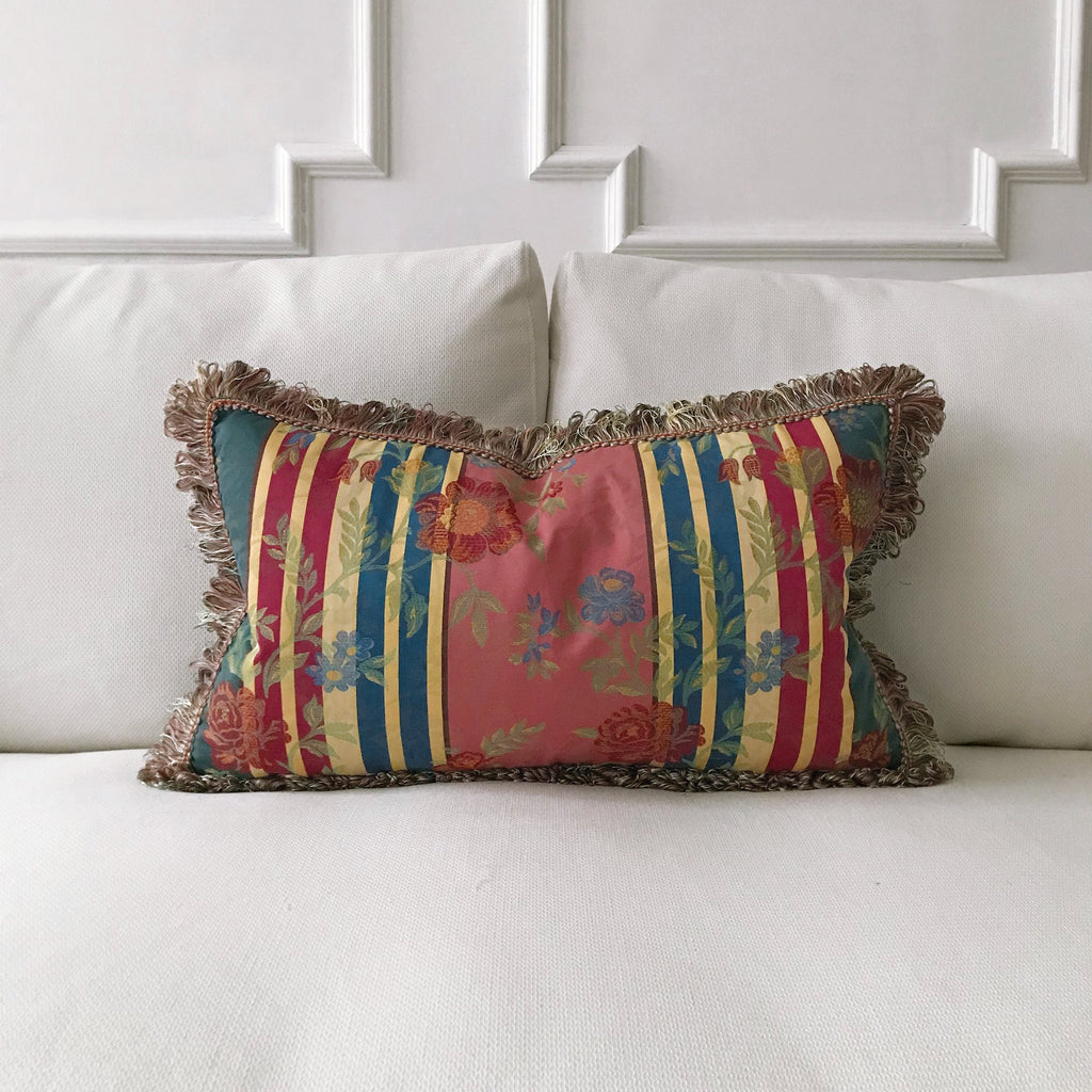 Shabby Chic Boho Floral Lumbar Pillow Cover 15 X26 Plankroad Home Decor