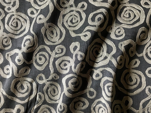 Gray Silver Swirl Upholstery Fabric