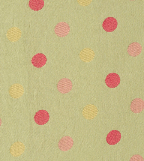 Olive Green Polka Dot Twill Upholstery Fabric