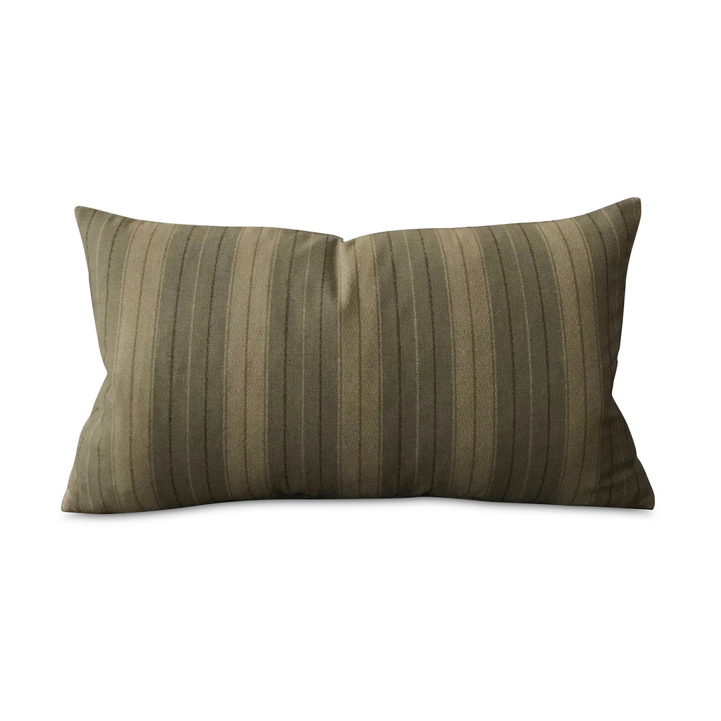 "Lodge Earth Woven Striped Lumbar Pillow Cover 15""x26"""