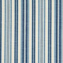 Blue Striped Broadcloth Upholstery Fabric
