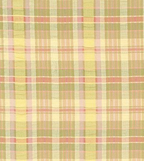 Sherbet Seersucker Plaid Upholstery Fabric