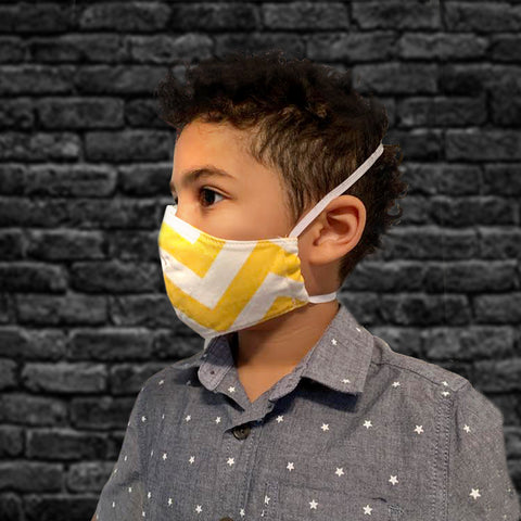 Kids 100% Cotton Washable Cloth Mask - Multiple Patterns
