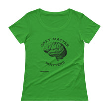 Grey Matter Matters Ladies' Scoopneck T-Shirt