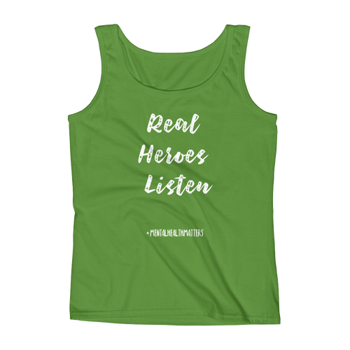 Real Heroes Listen Ladies' Tank