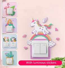 Cute 3D Wall Silicone on-off Switch Protector Wall Sticker