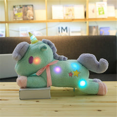 Luminous Pillow Unicorn - Green