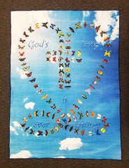 Everlasting Love of God - Baby Blanket 30x40 inches