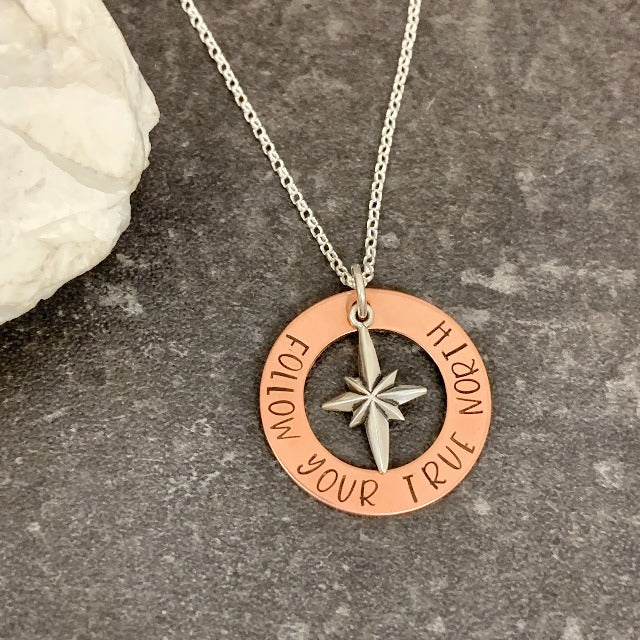 Follow Your True North Necklace