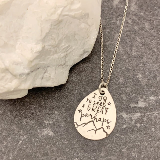 """A Great Perhaps"" Teardrop Necklace"