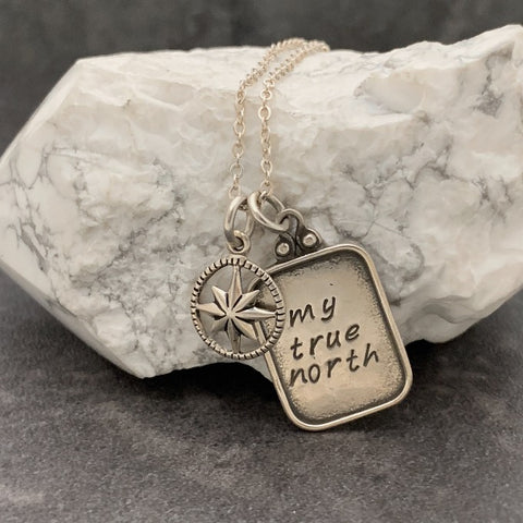 My True North and Compass Charm Necklace