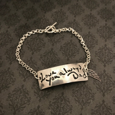 Bar Handwriting Bracelet