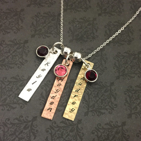 Triple Tag Necklace