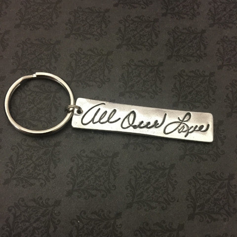 Actual Handwriting Keychain