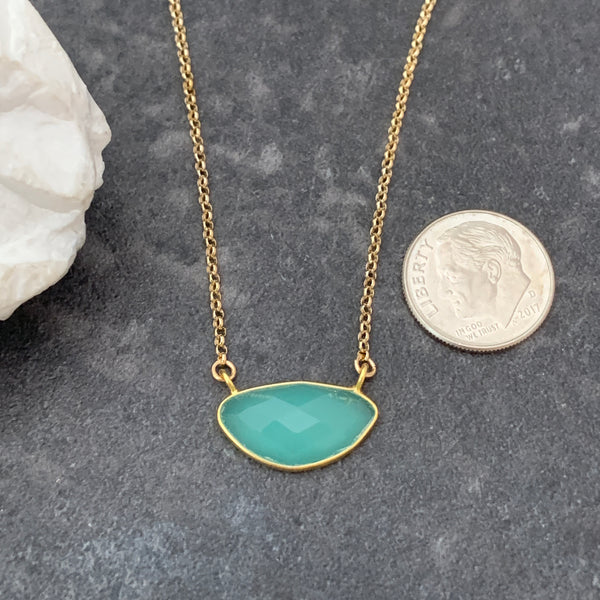 One-of-a-Kind Peru Chalcedony Necklace