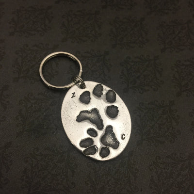 Pet Paw or Nose Print Keychain