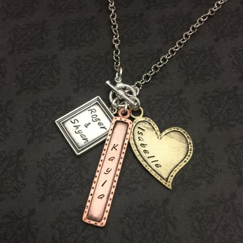 Bar - Heart - Frame Necklace