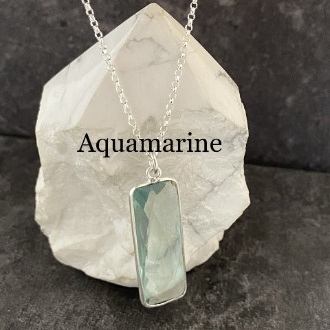 Elongated Rectangle Crystal Pendant *10% discount applied, no code needed