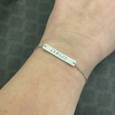 Word of the Year Sterling Silver Bracelet
