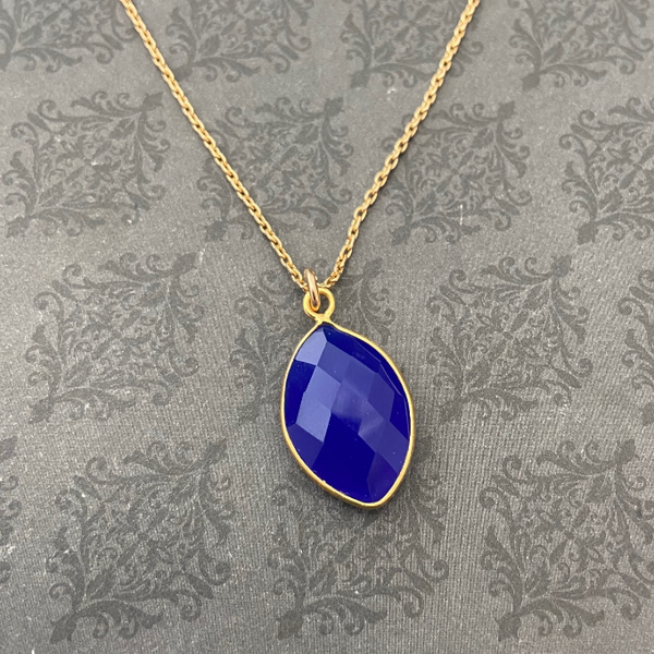 Deep Blue Chalcedony One-of-a-Kind Necklace
