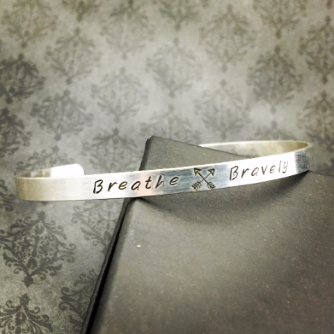 BREATHE BRAVELY Cuff Bracelet