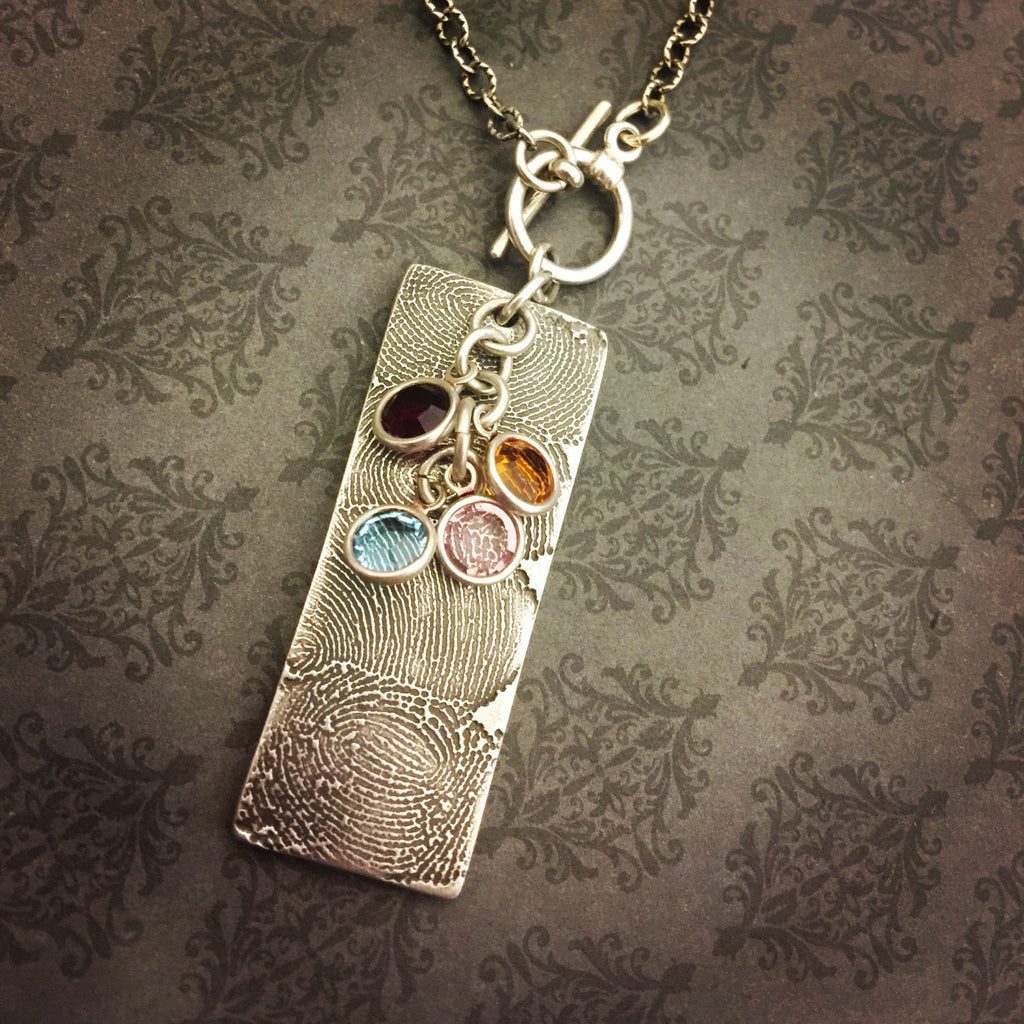 by buttonbean fingerprint bean pendant personalised and original product heart button necklace