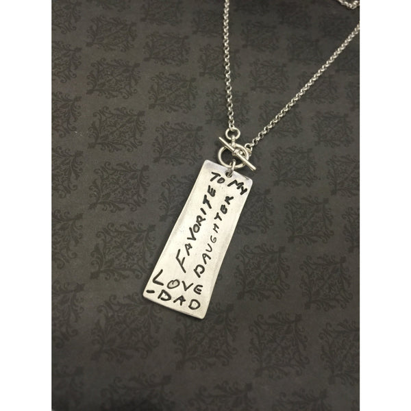 Rectangle Fingerprint Necklace