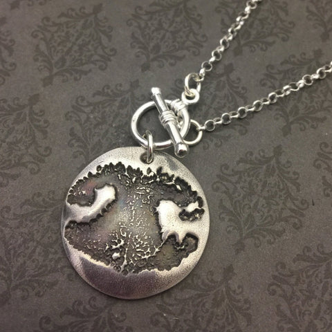 Dog Nose Imprint Necklace - Actual Dog Nose Print