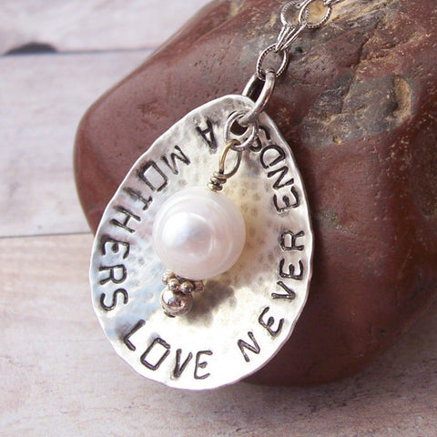 Hand Stamped Mother's Love Necklace