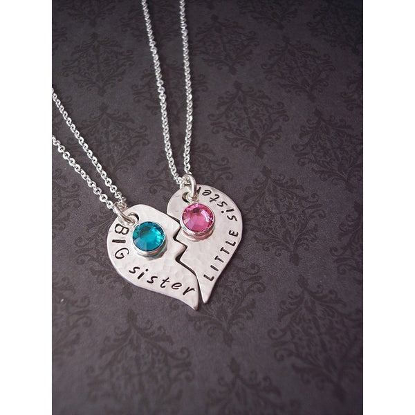 Big/Little Sister, Best Friends, Mother/Daughter broken heart necklace set
