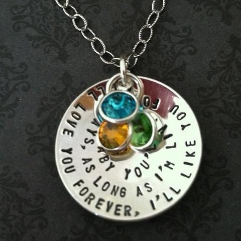 """I'll love you forever, I'll like you for always..."" Necklace"