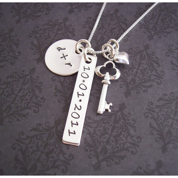 Key and Heart Necklace Perfect for Wedding or Anniversary Gift