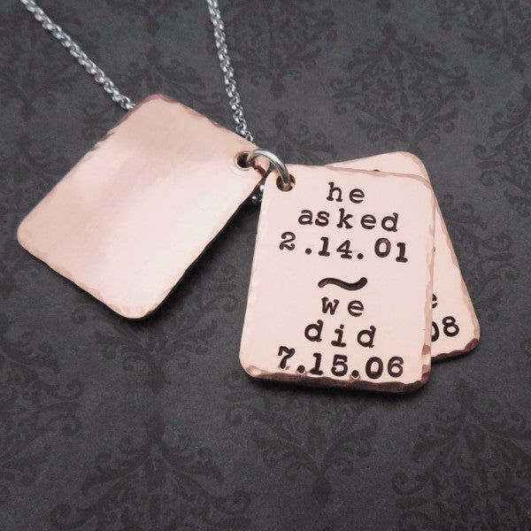 Hand Stamped Love Story Necklace