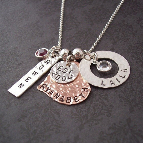 Hand Stamped Family Matters Necklace