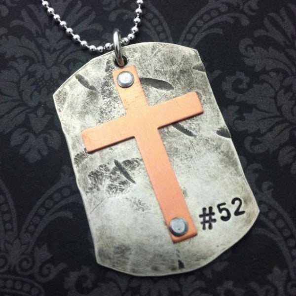 Dogtag with Cross Necklace