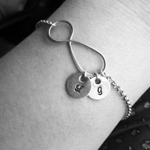 Infinite Bracelet with Initials