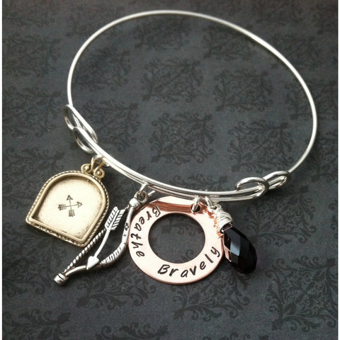 BREATHE BRAVELY - Bangle Bracelet