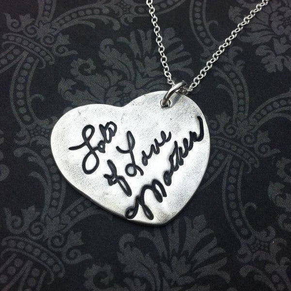 Signature - Actual Handwriting Heart Necklace