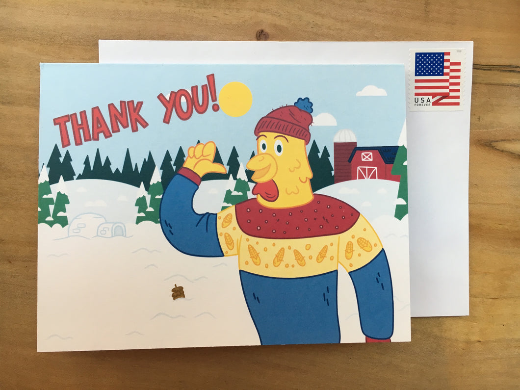 Holiday Thank You Card w/ Stamp