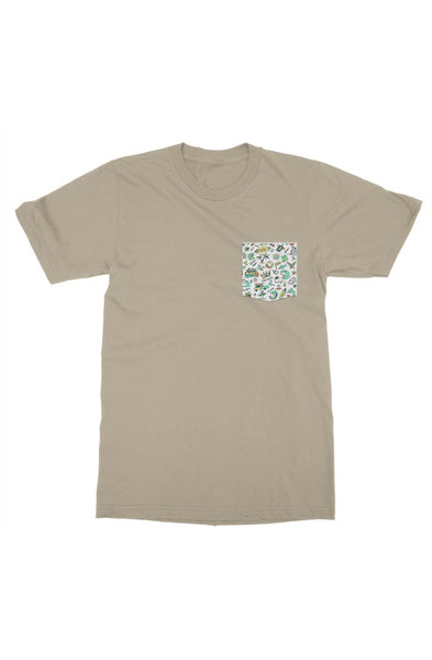 bantoo surf mens pocket tshirt
