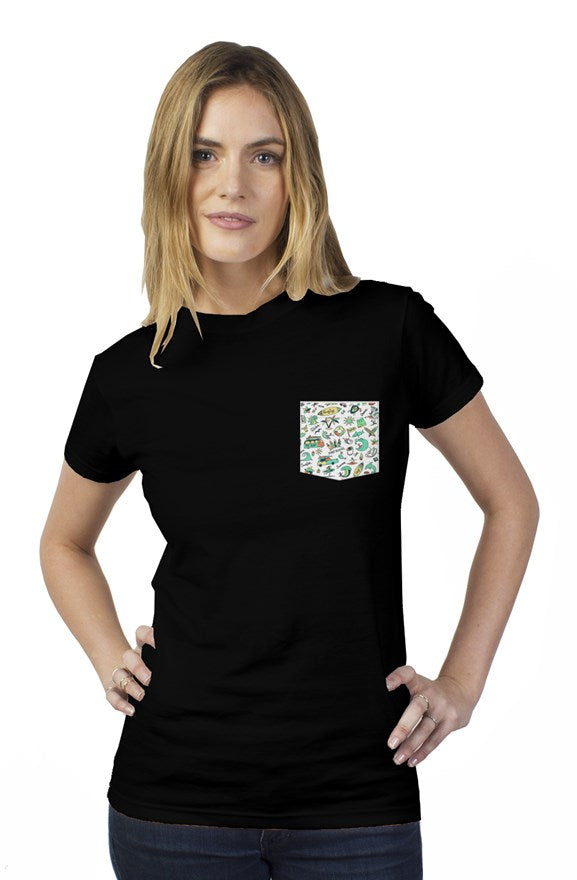 Bantoo surf womens pocket tee