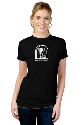 Bantoo white logo ladies blend tee
