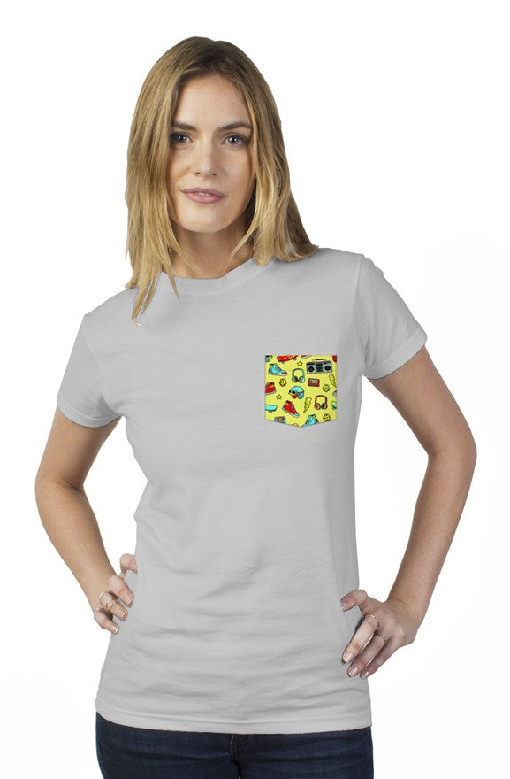 Bantoo skate ladies pocket tee