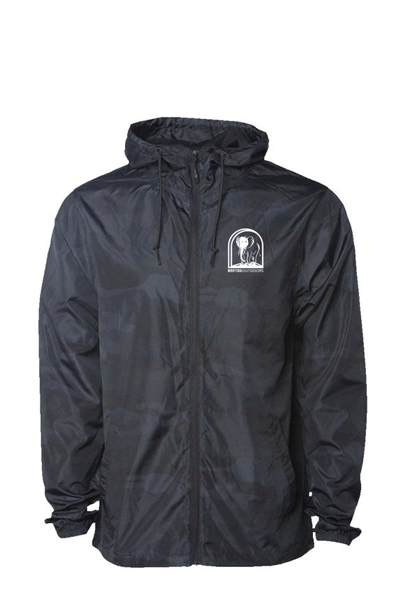 Bantoo Black Camo Water Resistant Windbreaker