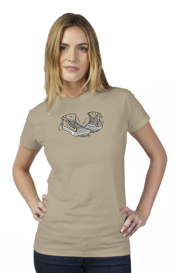 Walk a mile womens t shirt