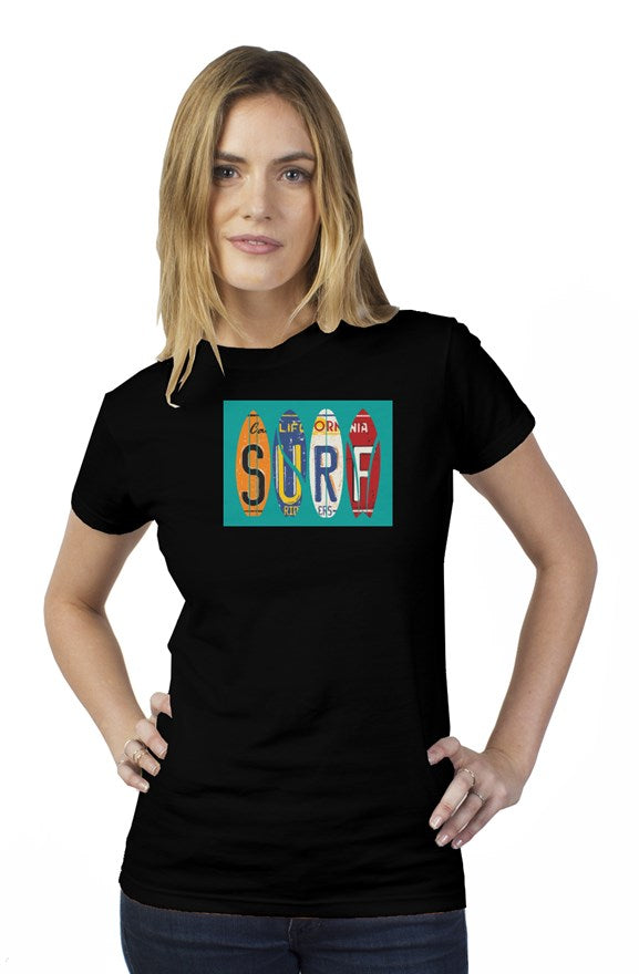 California surf womens t shirt
