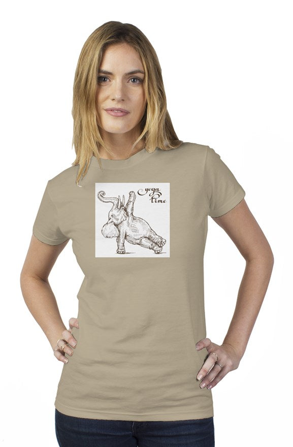 Yoga elephant womens t shirt