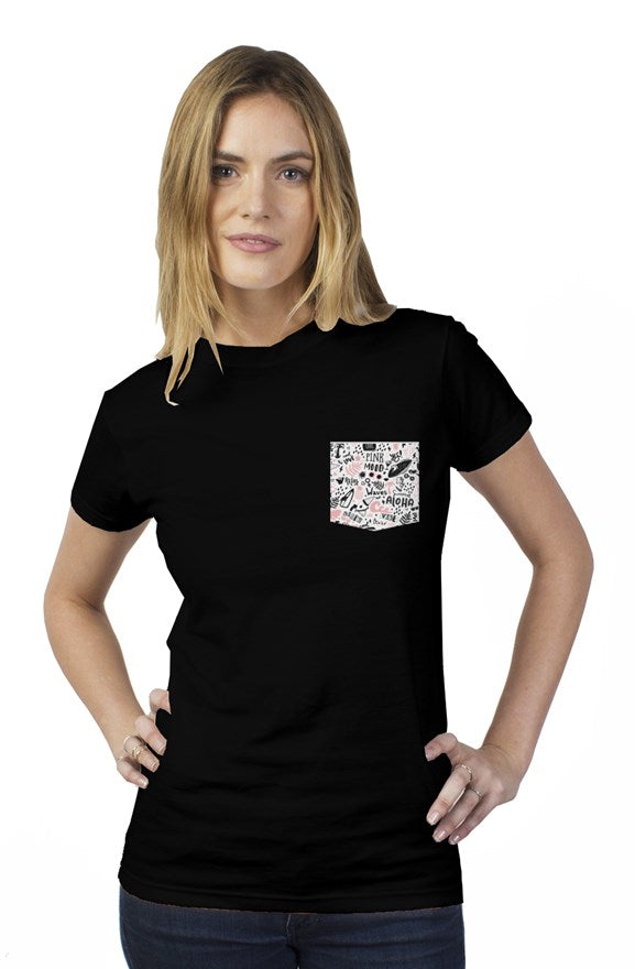 Bantoo Surfing waves womens t shirt